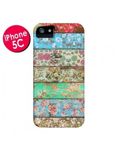 Coque Rococo Style Bois Fleur pour iPhone 5C - Maximilian San