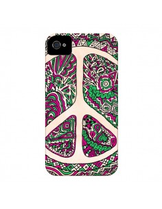 Coque Peace and Love Azteque Vainilla pour iPhone 4 et 4S - Maximilian San