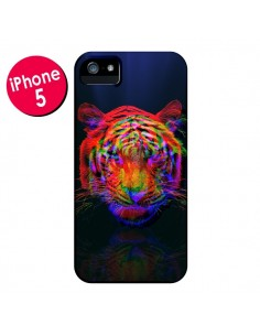 Coque Tigre Beautiful Aberration pour iPhone 5 et 5S - Maximilian San