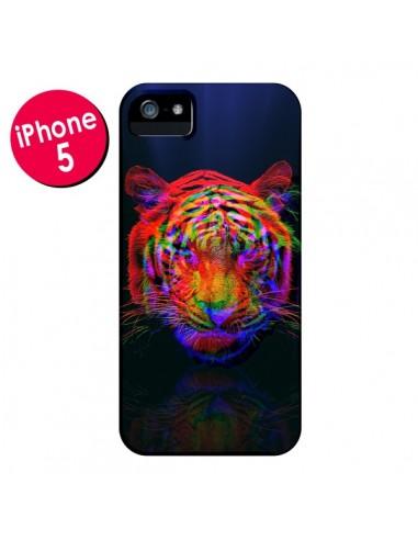 Coque Tigre Beautiful Aberration pour iPhone 5 et 5S - Maximilian San