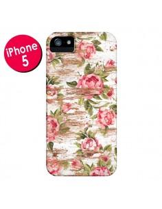 Coque Eco Love Pattern Bois Fleur pour iPhone 5 et 5S - Maximilian San