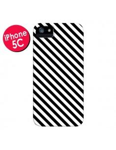 Coque Bonbon Candy Noire et Blanche Rayée pour iPhone 5C - Nico