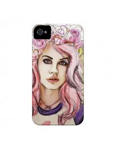 Coque Femme Fleurs pour iPhone 4 et 4S - Sara Eshak