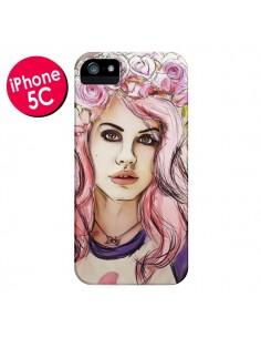Coque Femme Fleurs pour iPhone 5C - Sara Eshak