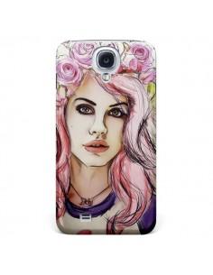 Coque Femme Fleurs pour Samsung Galaxy S4 - Sara Eshak