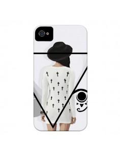 Coque Confusion Femme Oeil Triangle pour iPhone 4 et 4S - Sara Eshak
