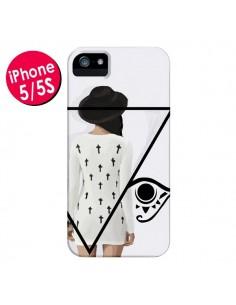 Coque Confusion Femme Oeil Triangle pour iPhone 5 et 5S - Sara Eshak