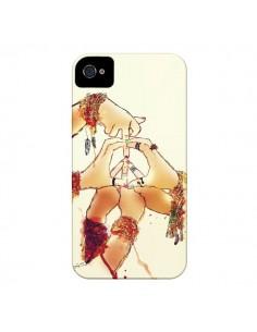 Coque Peace and Love pour iPhone 4 et 4S - Sara Eshak