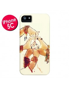 Coque Peace and Love pour iPhone 5C - Sara Eshak