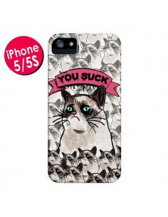 Coque Chat Grumpy Cat - You Suck pour iPhone 5 et 5S - Sara Eshak