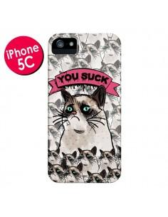 Coque Chat Grumpy Cat - You Suck pour iPhone 5C - Sara Eshak