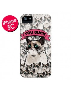 Coque Chat Grumpy Cat - You Suck pour iPhone 5C - Sara Eshak