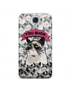 Coque Chat Grumpy Cat - You Suck pour Samsung Galaxy S4 - Sara Eshak