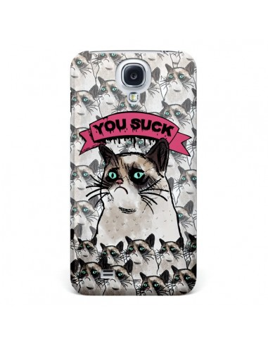 Coque Chat Grumpy Cat - You Suck pour Samsung Galaxy S4 - Sara Eshak