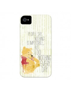 Coque Winnie I do nothing every day pour iPhone 4 et 4S - Sara Eshak