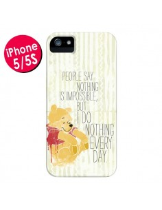 Coque Winnie I do nothing every day pour iPhone 5 et 5S - Sara Eshak