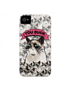 Coque Chat Grumpy Cat - You Suck pour iPhone 4 et 4S - Sara Eshak