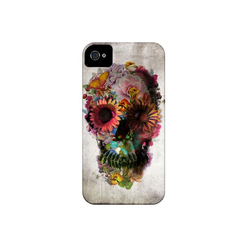 Coque Skull Flower Tête de Mort pour iPhone 4 et 4S - Ali Gulec