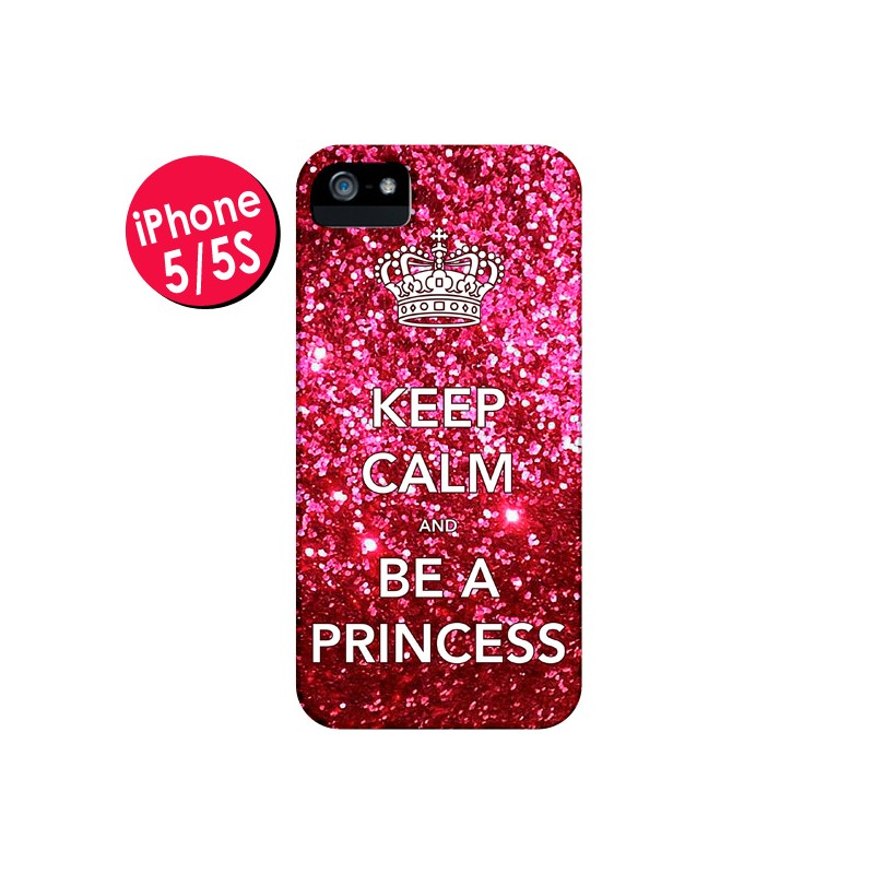 Coque Keep Calm and Be A Princess pour iPhone 5