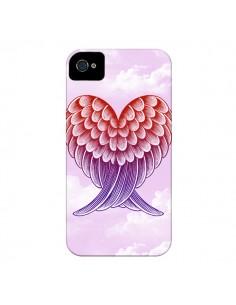 Coque Ailes d'ange Amour pour iPhone 4 et 4S