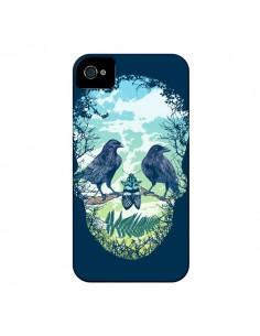 Coque Tête de Mort Nature pour iPhone 4 et 4S