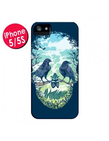 Coque Tête de Mort Nature pour iPhone 5