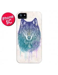 Coque Loup pour iPhone 5C - Rachel Caldwell