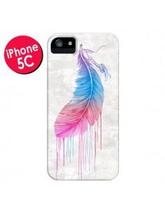 Coque Plume Arc-en-Ciel pour iPhone 5C - Rachel Caldwell