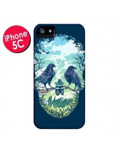 Coque Tête de Mort Nature pour iPhone 5C - Rachel Caldwell
