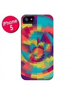 Coque Spirale de Couleurs Rouge Vert pour iPhone 5 et 5S - Eleaxart