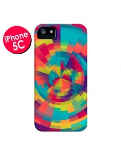 Coque Spirale de Couleurs Rouge Vert pour iPhone 5C - Eleaxart