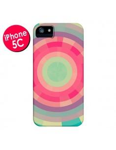 Coque Spirale de Couleurs Rose Vert pour iPhone 5C - Eleaxart