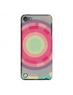 Coque Spirale de Couleurs Rose Vert pour iPod Touch 5 - Eleaxart