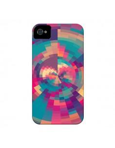 Coque Spirales de Couleurs Rose Violet pour iPhone 4 et 4S - Eleaxart