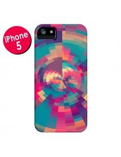 Coque Spirales de Couleurs Rose Violet pour iPhone 5 et 5S - Eleaxart