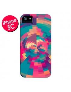 Coque Spirales de Couleurs Rose Violet pour iPhone 5C - Eleaxart