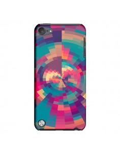 Coque Spirales de Couleurs Rose Violet pour iPod Touch 5 - Eleaxart