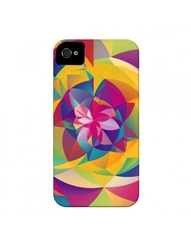 Coque Acid Blossom Fleur pour iPhone 4 et 4S - Eleaxart