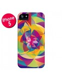 Coque Acid Blossom Fleur pour iPhone 5 et 5S - Eleaxart