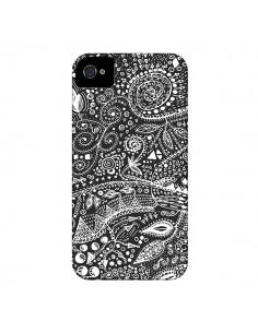 Coque Azteque Noir et Blanc pour iPhone 4 et 4S - Eleaxart