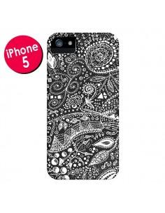 Coque Azteque Noir et Blanc pour iPhone 5 et 5S - Eleaxart