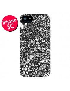 Coque Azteque Noir et Blanc pour iPhone 5C - Eleaxart