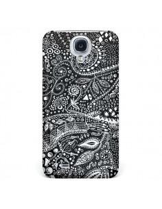Coque Azteque Noir et Blanc pour Galaxy S4 - Eleaxart