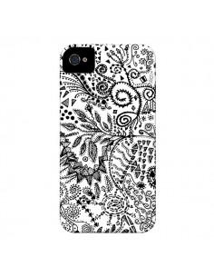 Coque Azteque Blanc et Noir pour iPhone 4 et 4S - Eleaxart