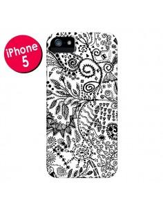 Coque Azteque Blanc et Noir pour iPhone 5 et 5S - Eleaxart