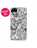 Coque Azteque Blanc et Noir pour iPhone 5C - Eleaxart