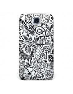 Coque Azteque Blanc et Noir pour Galaxy S4 - Eleaxart