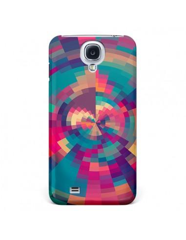 Coque Spirales de Couleurs Rose Violet pour Galaxy S4 - Eleaxart