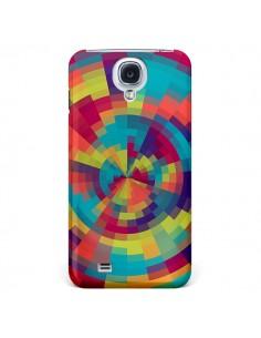 Coque Spirale de Couleurs Rouge Vert pour Galaxy S4 - Eleaxart