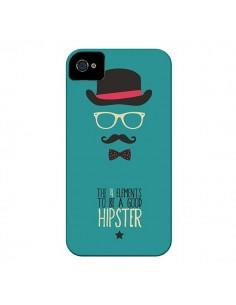 Coque Chapeau, Lunettes, Moustache, Noeud Papillon To Be a Good Hipster pour iPhone 4 et 4S - Eleaxart